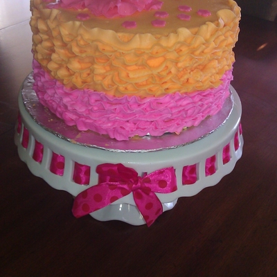 Ruffled Occasion Cake