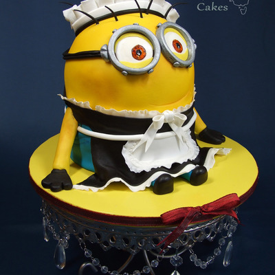 I Had Never Done A Minion Before So When Given Free Reign To Do A Cake This One Was First In Line I Loved This Little Guy So Much And Was S...