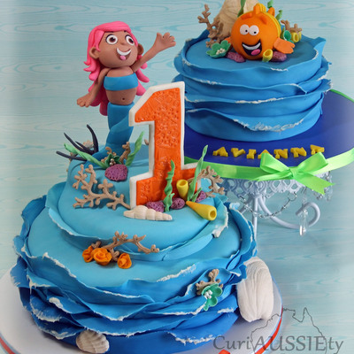 "Bubble Guppies ""molly Cake And Mr Grouper Smash Cake"""