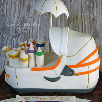 3D Stokke Baby Carrier Baby Shower Cake