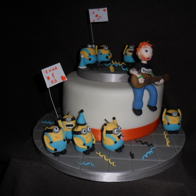 Ed Sheeran Concert Party Cake With Minions Concert Fans
