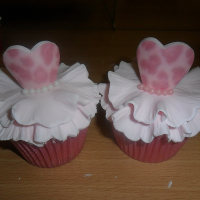 Pink White Ball Gown Princess Cupcakes