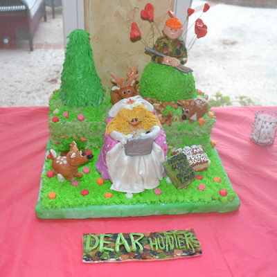 "Ann's Bachelorette Cake- ""the Dear Hunters""."