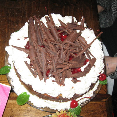Black Forest Cake Made From Fresh Cherries