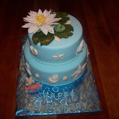 Waterlily Birthday Cake