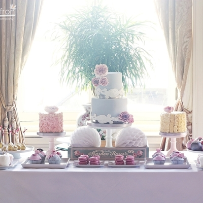 Pink And Grey Dessert Table Original Cake Design By Cotton And Crumbs Vanilla Bean And Rose Buttercream Cakes Salted Caramel Cupcakes An