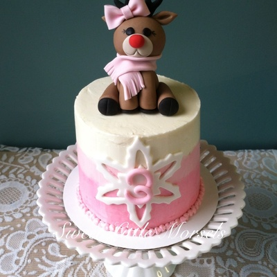 Sweet Little Reindeer Cake