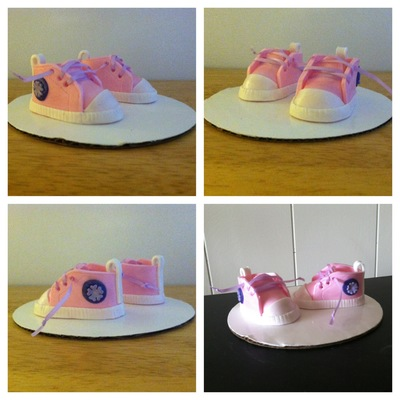 Gumpaste Baby Shoes on Cake Central