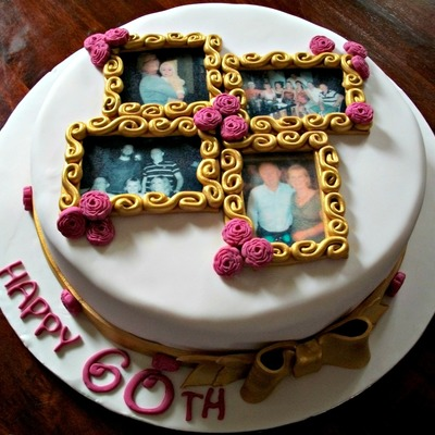 Cake With Photo Frame : Top Picture Frame Cakes - CakeCentral.com