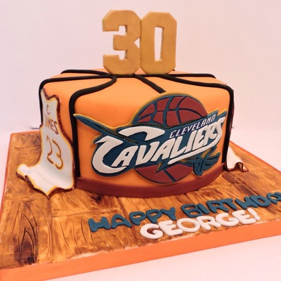 Cleveland Cavaliers Basketball Cake For Mans 30Th Birthday ...