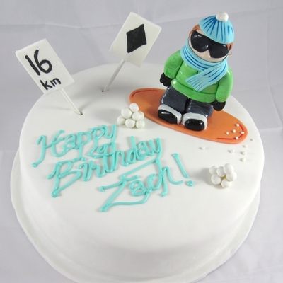 Snowboarding Cake on Cake Central