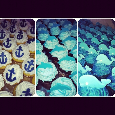 Marine Themed Cupcakes