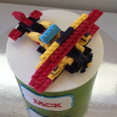 Chocolate Lego Plane on Cake Central
