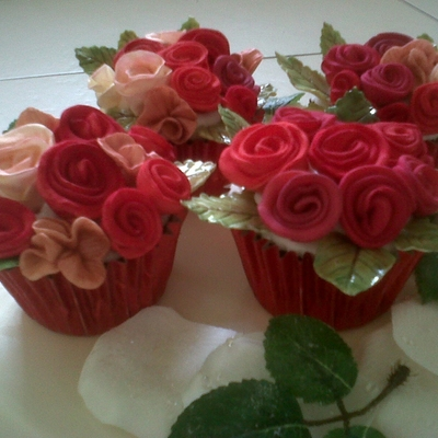 Bunches Of Red Roses