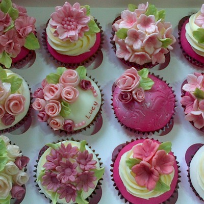 Pink Floral Cuppies