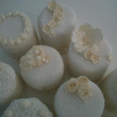 Ivory Wedding Mini Cakes