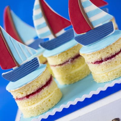 Father's Day Sailing Mini Cakes