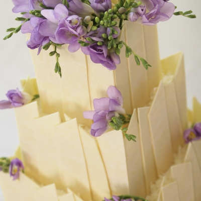 White Chocolate Shard Wedding Cake