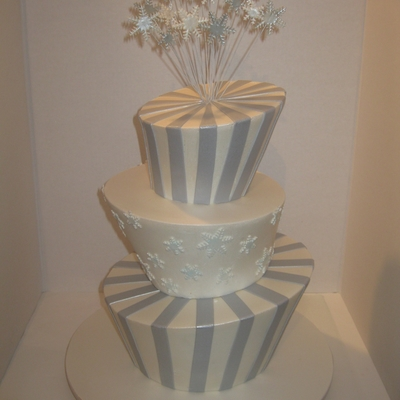 Winter Wonderland Madhatter Wedding Cake