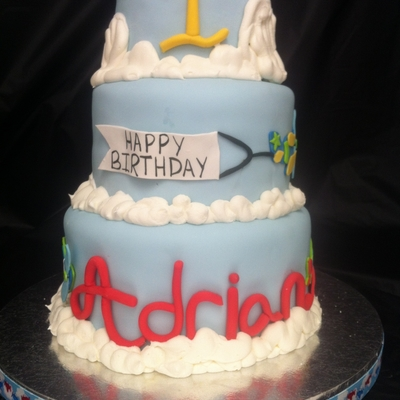 Adrian's First Birthday Plane Cake