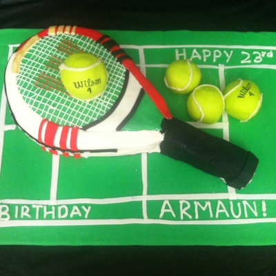 Tennis Racquet Birthday Cake