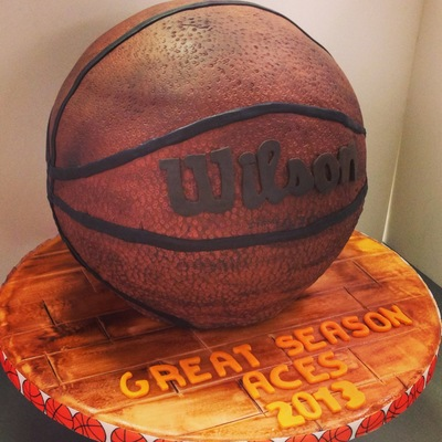 Basketball Cake (Well Used, Outdoor Leather Ball)