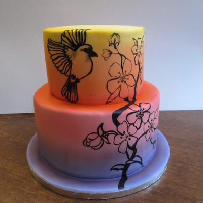 Airbrushed Cake With Painting