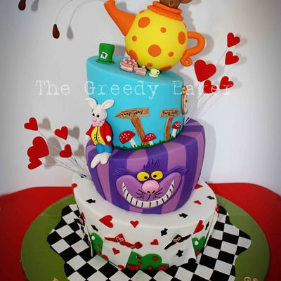 This Was A Topsy Turvymad Hatter Style Cake Created For A Very Cool Client Who Gave Me A Short Brief And Then Finished With Do What You Th...