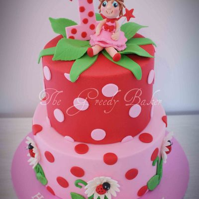 A Cute Cake For A Little Girl Top Tier Was White Choc Mud Bottom Tier Was Classic Choc