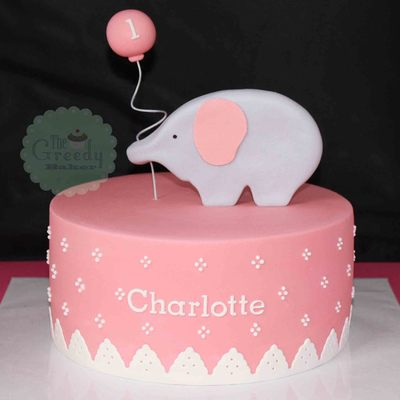 An 8 Dusty Pink Cake With Gumpaste Elephant Based On An Image The Client Sent Along From Hello Naomi