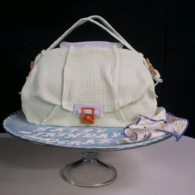 Kooba Valerie Handbag Cake -Tutorial on Cake Central