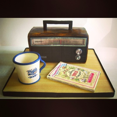 Vintage Radio Father's Day Cake