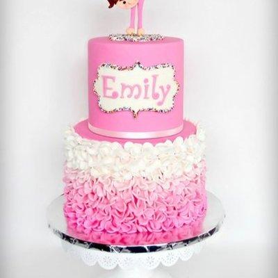 Gymnastic Pink Ruffle Cake