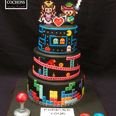 Retrogaming Wedding Cake
