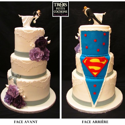 Front And Back Different Style Of Wedding Cake