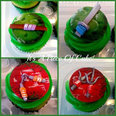 Teenage Mutant Ninja Turtle Cupcake Toppers