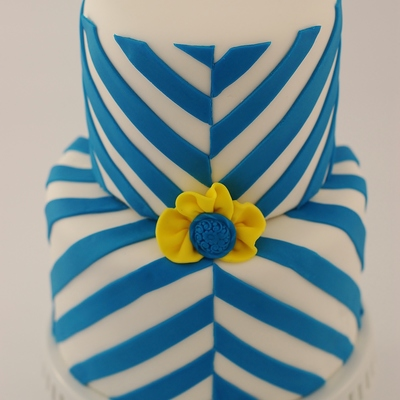30Th Birthday Cake Wanted A Variation Of A Chevron Pattern This Is What I Cam Up With It Was For A Guy So I Wanted To Keep It Simpl