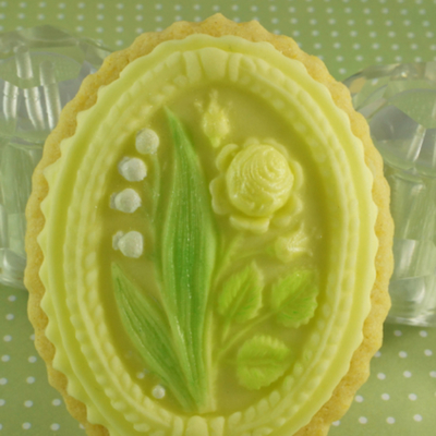 Lemon And Polenta Cookies Decorated With Lily Of The Valley And A Rose Using A Springerle Mould See More At Httpthesugarmiceblogblogsp