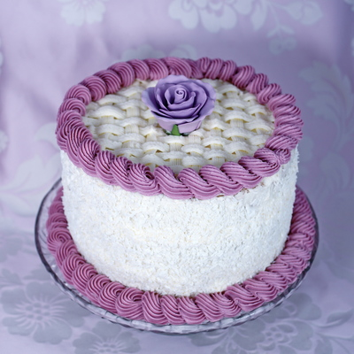 Coconut And Lavender Cake