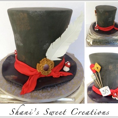 Mad Hatters Hat Cake For An Alice In Wonderland Themed 50Th Birthday Party