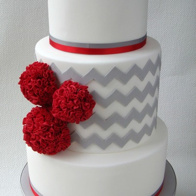 Contemporary Wedding Cake on Cake Central