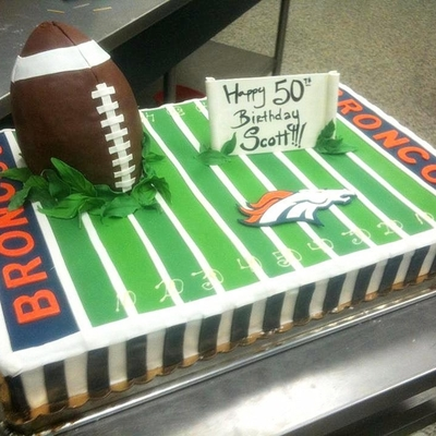 Broncos Birthday Cake