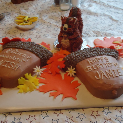 Squirrel Birthday Cake