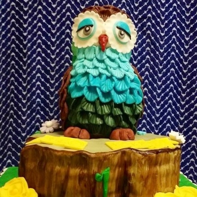 The Parents Believed That The Owl Is A Lucky Bird Hence Owl As The Cake Topper Credits To Zoes Fancy Cakes For The Idea As Presented By