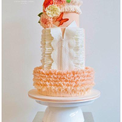 Butterfly Blush Wedding Cake For Cake Central Magazine Vol4 Issue 2