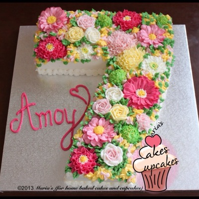 No 7 Floral Cakejpg