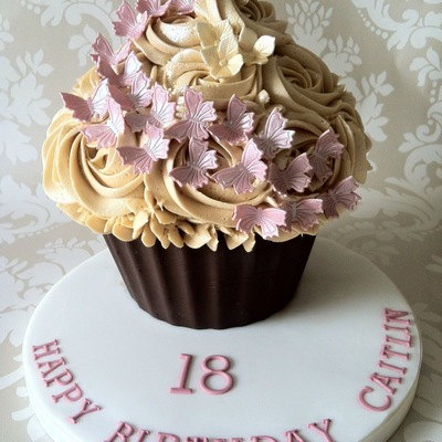Giant Cupcake Butterfly Theme