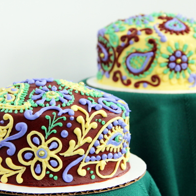 Mehndi Birthday Cakes