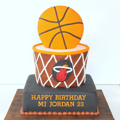Icing Smiles Basketball Cake - Miami Heat