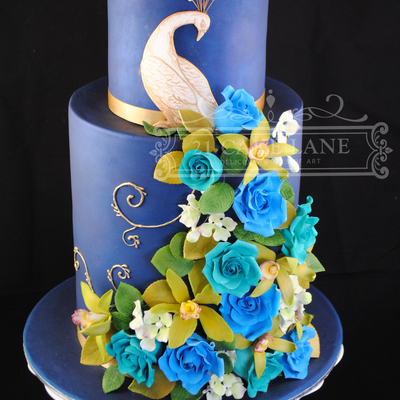Made During A Planet Cake Course Triple Barrel Base Tier 15 Barrel Top Tier Handmade Roses Orchids Amp Hydrangea